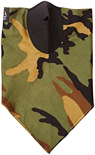 Zanheadgear WNEO118 Neodanna Woodland 100 Percentage Cotton Bandanna with Neoprene Face Mask (Camouflage)
