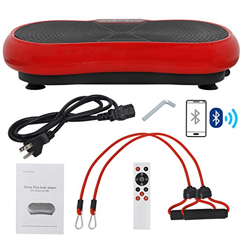 SUPER DEAL Crazy Work Out Fit Full Body Vibration Platform Massage Machine Fitness W/Bluetooth Red by SUPER DEAL (Image #7)