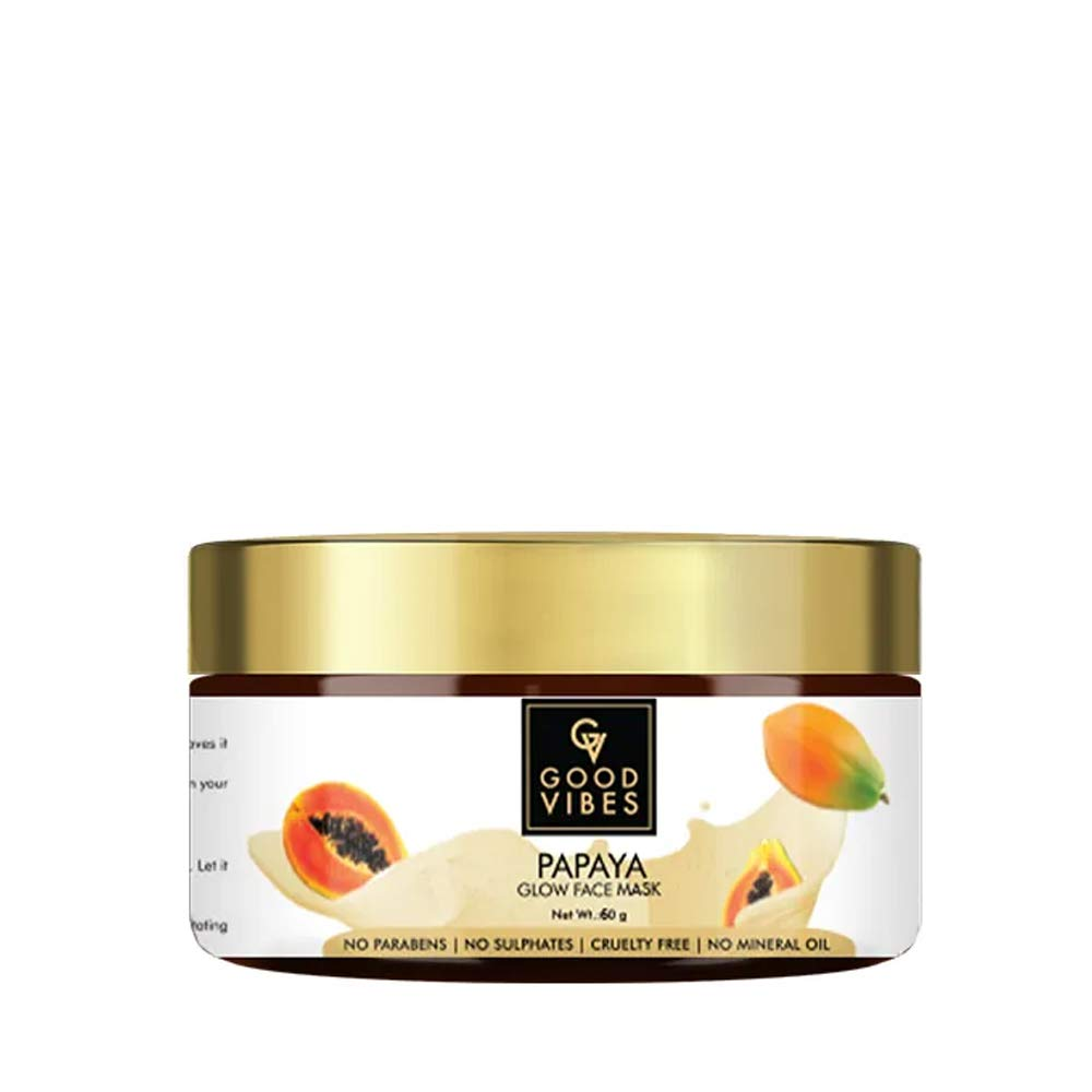 Buy Good Vibes Papaya Glow Face Mask 60 G Hydrating Tan Removal And Softening For Skin Blemishes And Scars Cruelty And Paraben Free Online At Low Prices In India Amazon In