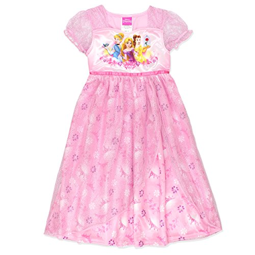 Disney Cinderella Princess (Disney Princess Girls Fantasy Nightgown Pajamas (4, Princess Pink))