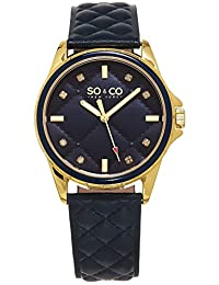 SO & CO New York  Women's 5201.3 SoHo Analog Display Quartz Blue Watch