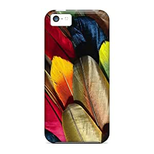 Fashion YlOtUPf3314mShxH Case Cover For Iphone 5c(parrot Feather Colorful)