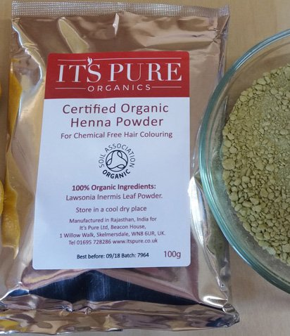 Soil Association Certified Organic Henna 500g Its Pure Organics