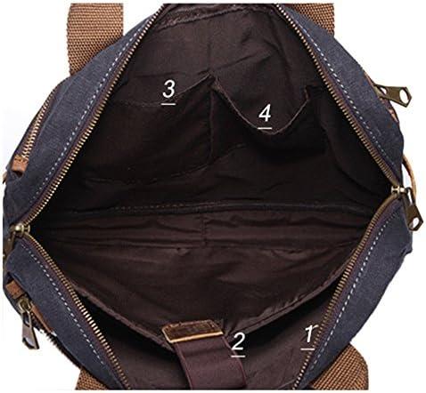 ショルダーバッグ ビジネスバッグ 男性 ブリーフケースパッケージ キャンバスバッグ ヴィンテージ ショルダー クロスボディバッグ コンピュータバッグ に適して コマース カジュアル 大容量 通勤