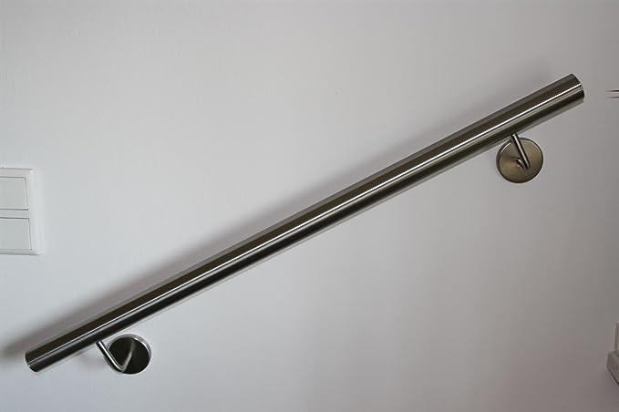 verdeckt verschraubt, 600 mm Handlauf Edelstahl Aussen Wandhandlauf Br/üstung Gel/änder V2A Rostfrei 42,4 mm Durchmesser