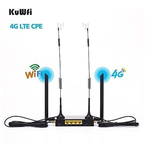 KuWFi 4G LTE Router inalámbrico WiFi para automóvil 300Mbps Cat 4 ...
