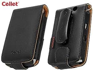 Cellet Executive Case with Swivel Clip & Spring Belt Clip for Blackberry Storm 9530 - Black