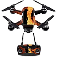 Skin for DJI Spark Mini Drone Combo - Fire Fighter| MightySkins Protective, Durable, and Unique Vinyl Decal wrap cover | Easy To Apply, Remove, and Change Styles | Made in the USA