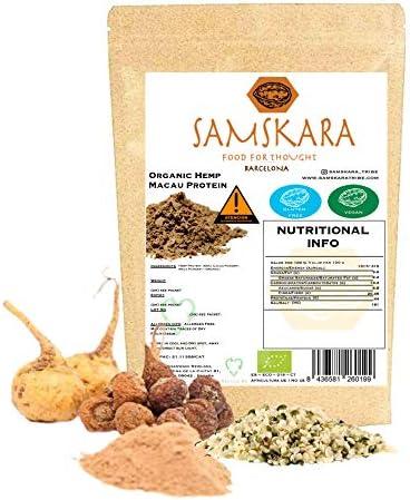 Hemp Macau (Cañamo + Maca + Cacao) Ecológico   BIO   Organic - Mezcla Proteina Vegana Energetica Nutritiva - Sin Azucares/Educolorantes (500gr)