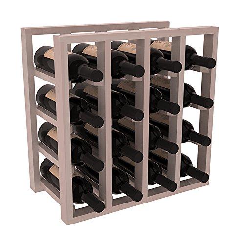 Wine Racks America Redwood Lattice Stacking 16 Bottle Cub...