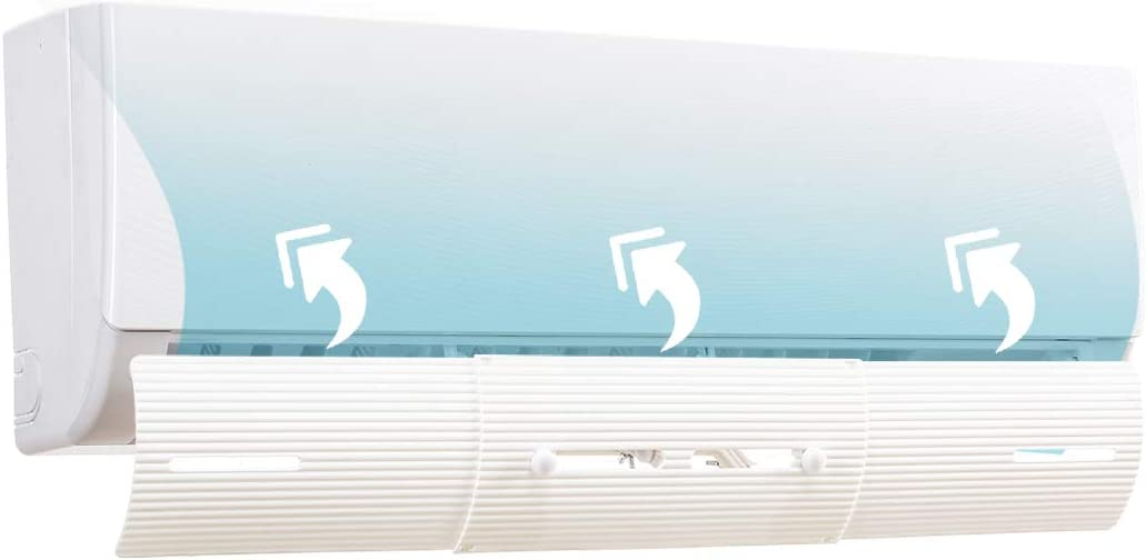 LBG Products Adjustable Foldable Air Conditioner Deflector,Anti-Blast/Anti-Direct Blowing Baffle Windshield for Home,Mini-Split,Central A/C Units,White