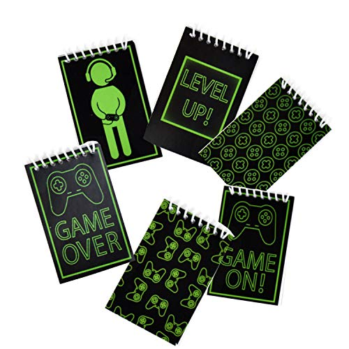 48 Count Gaming Mini Notepads Birthday Party Supplies Video Gaming Party Favors and Decorations Glowing Gamer Favor Pack for kids, Boys, Girls and Adults Bulk Mini Notepads Pack by Gift Boutique (Game Video Erasers)