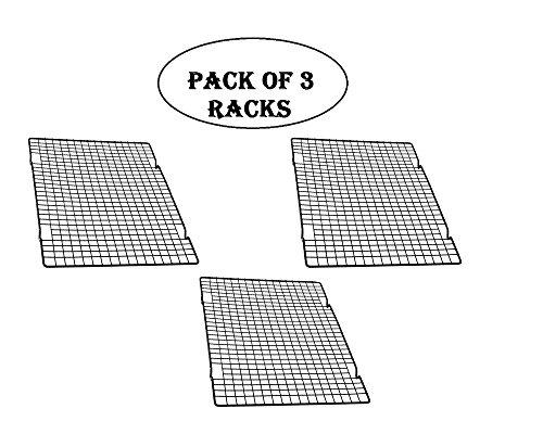 """Baker's Secret Cooling Rack, 10"""" X 16"""" 3 Racks"""