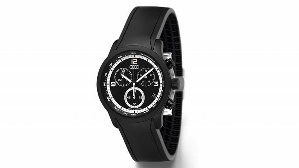 Audi Herrenuhr Uhr Herren Chronograph blackline - schwarz