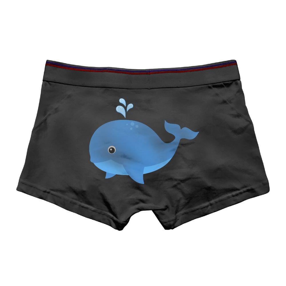 Ngyeyu Bule Whale Mens Underwear Cotton Vintage Boxer Briefs Ash