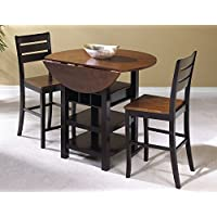 Sunset Trading 3 Piece Quincy Drop Leaf Pub Table Set