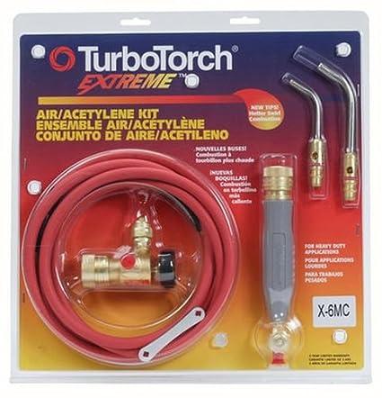 for MC tank Air Acetylene Victor TurboTorch X-6MC Torch Kit Swirl 0386-0339