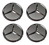 Mercedes-Benz Wheel Center Hub Cap Cover Emblem Badge Sets of 4,Silver