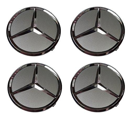 Mercedes-Benz Wheel Center Hub Cap Cover Emblem Badge Sets of 4Silver