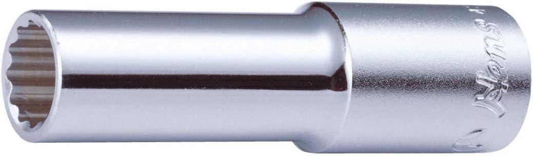 Hans 1//2 Steck-Schl/üssel-Einsatz//Steck-Nuss lang 12-kant L/änge=76mm 25mm