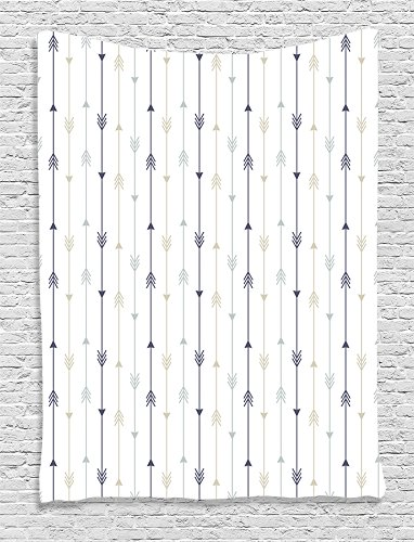 Ambesonne Collection Geometric Monochrome Tapestry