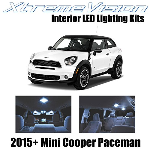 XtremeVision Interior LED for Mini Cooper Paceman 2015+ (17 Pieces) Cool White Interior LED Kit + Installation Tool - Mini Cooper Interior Kit