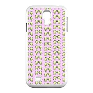 Samsung Galaxy S4 9500 Cell Phone Case White Yellow Pixelated Bow Wsvbz
