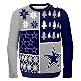 FOCO Dallas Cowboys Busy Block Ugly Sweater Double Extra Large