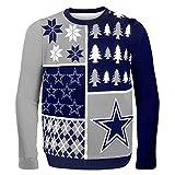 NFL Dallas Cowboys Ugly Sweater, Busy Block, Medium
