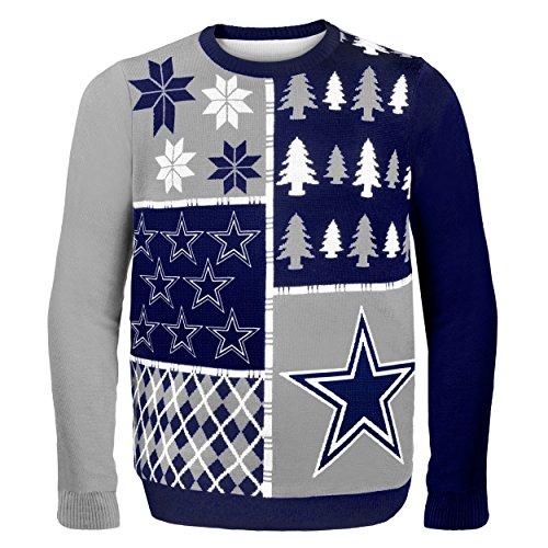 foco dallas cowboys busy block ugly sweater medium
