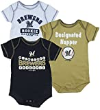 Outerstuff Milwaukee Brewers MLB Infants 3 Pack Bodysuit