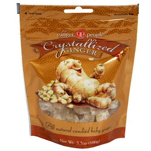 The Ginger People Crystallized Ginger, 3.5-Ounce Bags (Pack of 2)