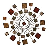 Deco 79 Modern Blossom Sun Abstract Metal Wall Art Home Décor