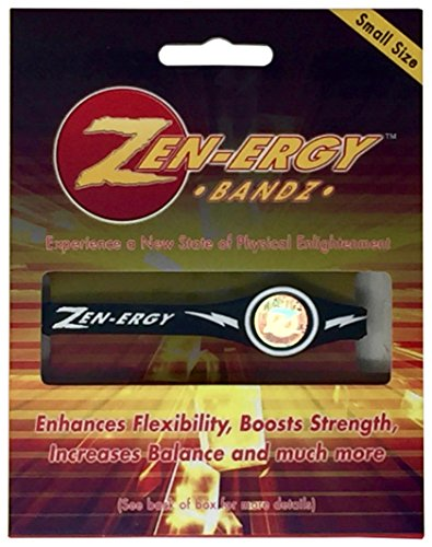 (Zen-ERGY Balance Bands - for Power, Strength, Agility, Focus, Well Being, Positive Energy Flow (Black Band with White, Small)