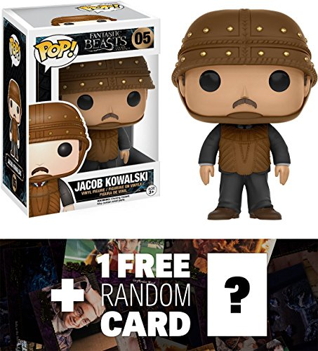 Jacob Kowalski: Funko POP! x Fantastic Beasts & Where to Find Them Vinyl Figure + 1 FREE Fantasy Movie Trading Card Bundle (Beast Vinyl Figure)