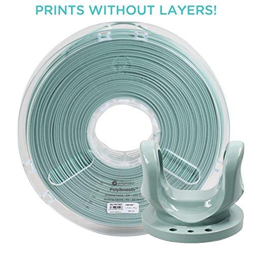 Polymaker PolySmooth 3D Printer Filament, Layer-Free 3D filament, Slate Grey, 1.75 mm Filament, 750g 3D Printing Filament