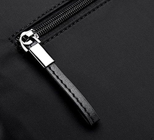 Bolsa Maletín De Negocios Ocasional Ordenador Negocio Bolsa De Hombre De Moda Bolsa De Tela Oxford De Los Hombres Impermeables Black