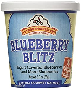 Straw Propeller Gourmet Foods Natural Gourmet Oatmeal, Blueberry Blitz, 3.0 Ounce (Pack of 12)