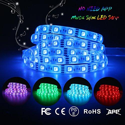 Music LED Strip Light Sync Strobe Light Strip Dream Color