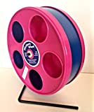 SUGAR GLIDER/HEDGEHOG/SM. ANIMAL 11'' DIAMETER EXERCISE WHEEL PINK WITH DARK BLUE TRACK (TOTAL HEIGHT 12.3'')