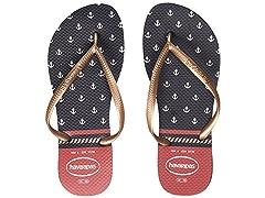 2283085c4374a Havaianas Women s Slim Nautical Flip Flops White