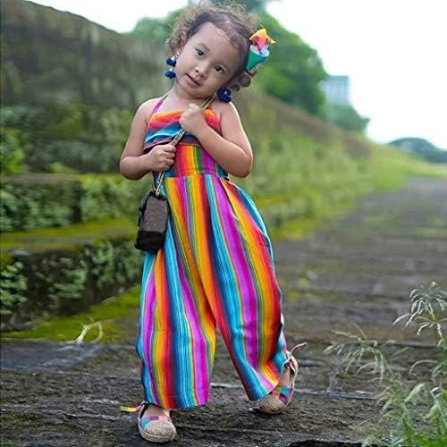 Daoope Vestiti Bambino Maschio Estate Abbigliamento Bambini Abiti Cerimonia Vestito Battesimo Bambino 6 9 12 18 Mesi Collo Senza Maniche per Bambini con Tute Arcobaleno Sling