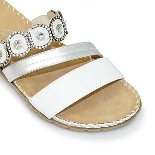 Lunar Sandalias de Vestir Para Mujer blanco