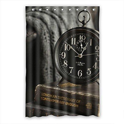 SANMOU Big Ben Alarm Clock Pattern Shower Curtain Polyester Brighten Bathroom 48