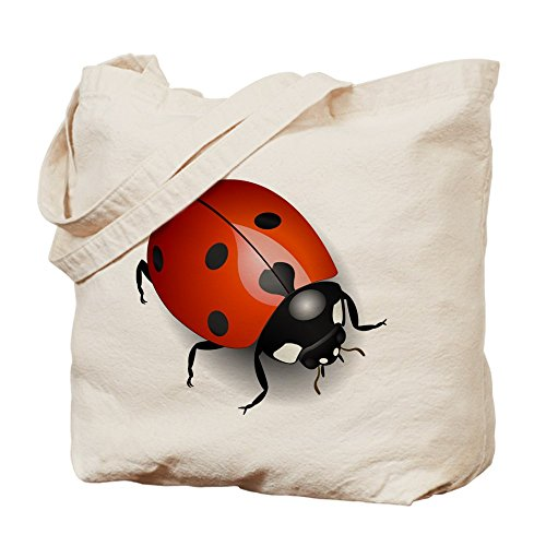 CafePress color brillante diseño de mariquita–Gamuza de bolsa de lona bolsa, bolsa de la compra