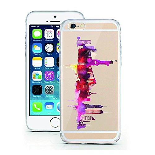 iPhone 7 Caso por licaso® para el patrón de Apple iPhone 7 Gato Negro Gatito Dulce TPU de silicona ultra-delgada proteger su iPhone 7 es elegante y cubierta regalo de coches New York 1