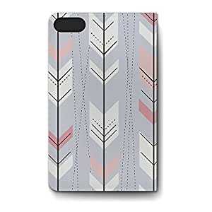 Leather Folio Phone Case For Apple iPhone 5S Leather Folio - Hipster Arrows Doodled PU Leather Soft