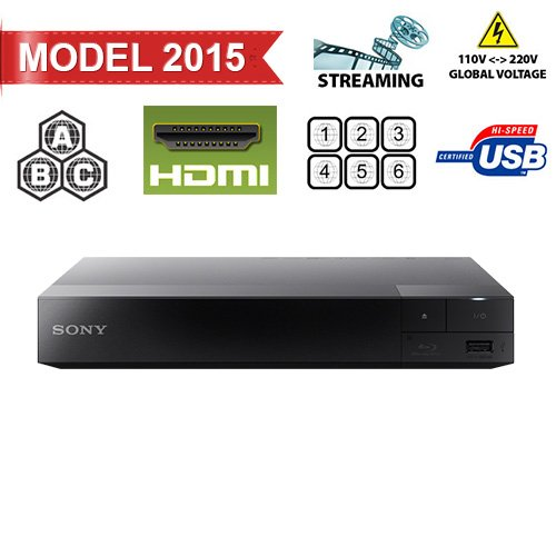 (Sony BDP-S3500 Region Free DVD and Zone ABC Blu Ray Player with 100-240 Volt, 50/60 Hz, Free 6' HDMI Cable and US- European Adapter)