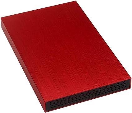 gazechimp 外付ハードドライブディスク USB3.0 高速 2.5インチ モバイルハードディスク HDDエンクロージャー 赤色 - 500GB