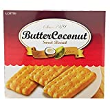 Lotte Butter Coconut Sweet Biscuits (1 Pack 10.58 oz, 300g)